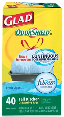 Tall Kitchen Bags, Odor Shield, Drawstring, 40-Ct., 13-Gal.