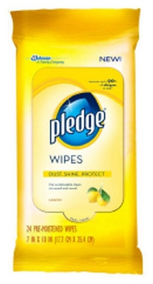 Dispoable Dust Cloths/ Furniture Wipes. Lemon Scented, 24-count