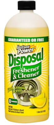 Instant Power Disposer Freshener & Cleaner, Lemon Scent, 1-Liter