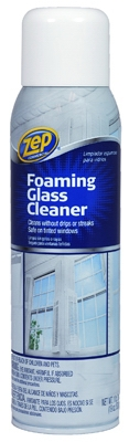 Glass Cleaner, Foaming, 19-oz.