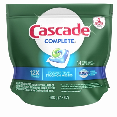 Complete Dishwasher Detergent Action Pacs, 14-Ct.