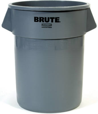 Brute 55-Gallon Gray Trash Can