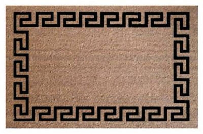 Doormat, Greek Key Coir, 24 x 36-In.