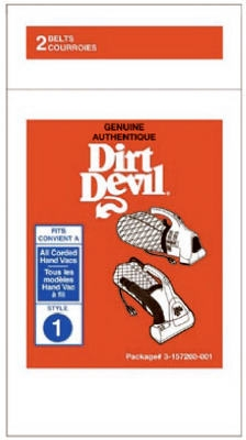 Dirt Devil Hand Vac Replacement Belt, 2-Pack