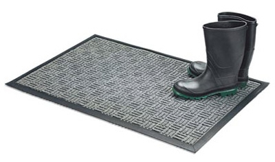 Floor Saver II Doormat, Gray Olefin Fiber, 18 x 30-In.
