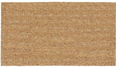 Heavy-Duty Natural Tan Cocoa Doormat, 24x36-Inch