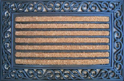 Doormat, Scrolled Edge, 18 x 30-In.