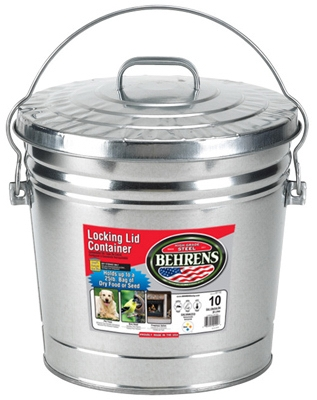 10-Gallon Galvanized Steel Trash Can