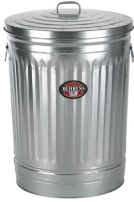 31-Gallon Galvanized Steel Trash Can