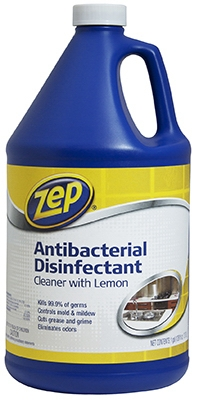 Antibacterial Disinfectant Cleaner, Lemon Scent, 1-Gal.