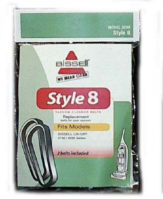 Bissell Style 8 Lift-Off Bagless Upright Vacuum Belt, 2-Pack