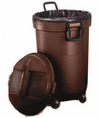 Kona Wheeled Trash Can Locking Lid 32 Gal Home Cisco Tool