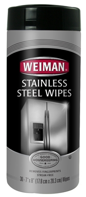 Stainless Steel Wipes, 30-Ct.