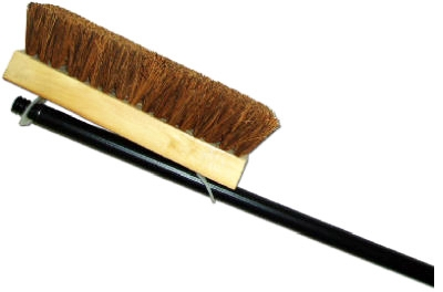 Deck Brush, Palmyra & Wood, 10-In. With 48-In. Handle
