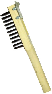 Wire Scratch Brush With Scraper, Steel & Wood