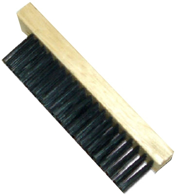 Wire Brush, Straight Back, Steel & Wood
