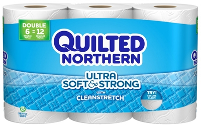 Soft & Strong Double Roll Bath Tissue, 6-Pk.