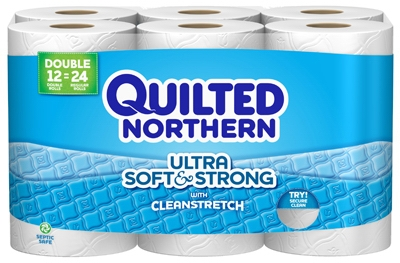 Soft & Strong Double Roll Bath Tissue, 12-Pk.