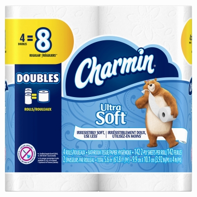 Charmin Ultra Soft, 4 Double Roll