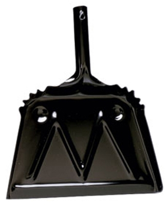 Heavy Duty Dust Pan, Black, Metal, 12-In.