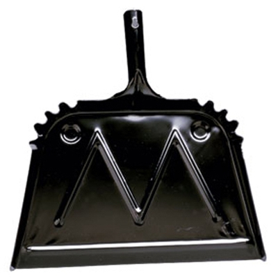 Heavy Duty Dust Pan, Black, Metal, 16-In.