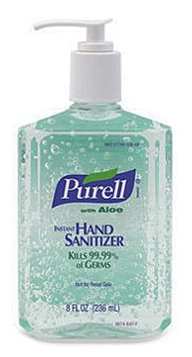 Advanced Hand Sanitizer Gel, Aloe, 8-oz. Pump