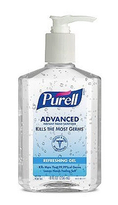 Advanced Hand Sanitizer Gel, Original, 8-oz. Pump