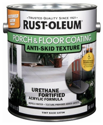 Gallon Satin Porch & Floor Urethane Finish, Anti-Skid Texture Tint Base