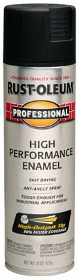 Stops Rust Spray Enamel, Fast-Dry, Black Semi-Gloss, 15-oz.