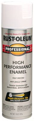 Stops Rust Spray Enamel, Fast-Dry, White Semi-Gloss, 15-oz.