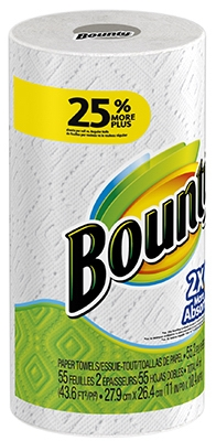 Paper Towel, Large, White, Single, 50-Sheets