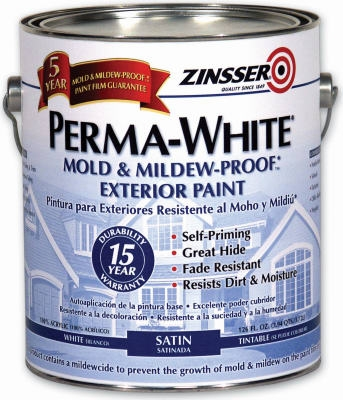 1-Qt. Perma White Satin Exterior Paint