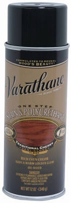 Varathane 12-oz. Traditional Cherry Wood Stain & Polyurethane Spray