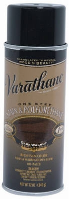 Varathane 12-oz. Dark Walnut Wood Stain & Polyurethane Spray