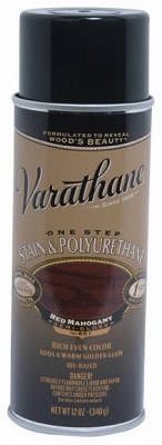 Varathane 12-oz. Red Mahogany Wood Stain & Polyurethane Spray