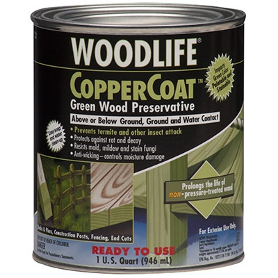 Coppercoat Green Wood Preservative, 1-Qt.