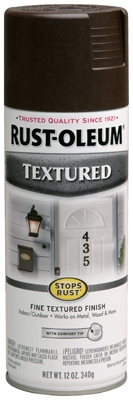 Textured Spray Paint, Dark Brown, 12-oz.