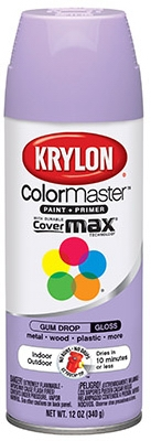 Colormaster Spray Paint, Indoor/Outdoor Use, Gloss Gum Drop, 12-oz.