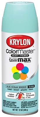 Colormaster Spray Paint, Indoor/Outdoor Use, Gloss Blue Ocean Breeze, 12-oz.