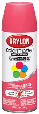 Colormaster Spray Paint, Indoor/Outdoor Use, Gloss Watermelon, 12-oz.