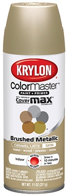Colormaster Metallic Finish Spray Paint, Indoor Use, Carmel Latte, 11-oz.