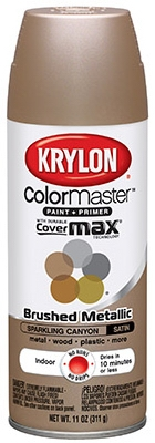 Colormaster Metallic Finish Spray Paint, Indoor Use, Sparkling Canyon, 11-oz.