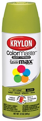 Colormaster Spray Paint, Indoor/Outdoor Use, Gloss Ivy Leaf, 12-oz.