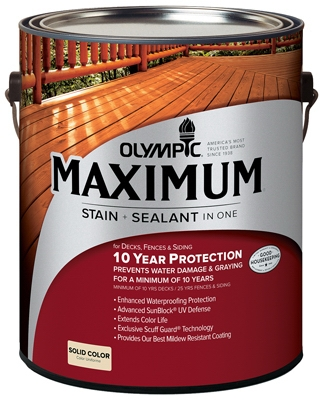 Maximum Deck, Fence & Siding Stain & Sealant, Exterior, Acrylic, Navajo Red, 1-Gal.