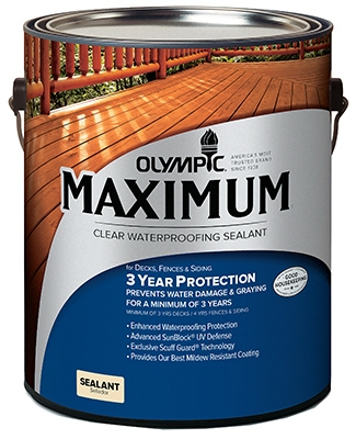 Maximum Waterproofing Sealant, Exterior, Oil, Clear, 1-Gal.