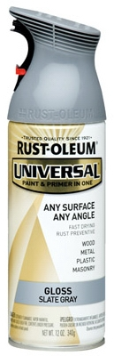 Universal Paint & Primer Spray, Universal Slate Gray, 12-oz.