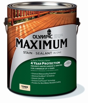 Maximum Waterproofing Sealant, Exterior, Oil, Redwood, 1-Gal.