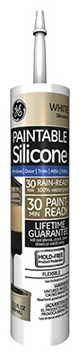 Silicone II Paintable Caulk, White, 10.1-oz.