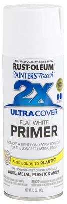 Painter's Touch 2X Spray Primer, White, 12-oz.
