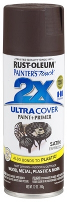 Painter's Touch 2X Spray Paint, Satin Espresso, 12-oz.